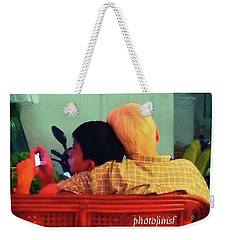 Weekender Tote Bag featuring the photograph Thinking About Escaping Us by Mr Photojimsf