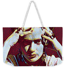 Thinking Frida Weekender Tote Bag by Gary Grayson