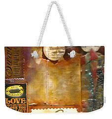 Thinking Of You Weekender Tote Bag by Angela L Walker