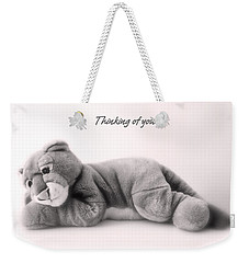 Weekender Tote Bag featuring the photograph Thinking Of You by Gina Dsgn