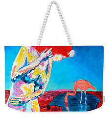 Weekender Tote Bag featuring the painting Thinking Woman by Ana Maria Edulescu