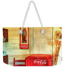 Thirst-quencher Old Coke Machine Weekender Tote Bag by Reid Callaway