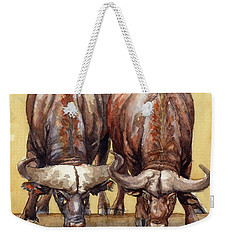 Thirsty Buffalo  Weekender Tote Bag by Margaret Stockdale