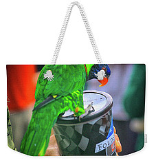 Thirsty Parrot Weekender Tote Bag by Dennis Baswell