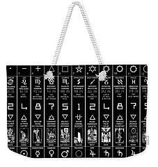 Thirteen Moonstar Chart Weekender Tote Bag