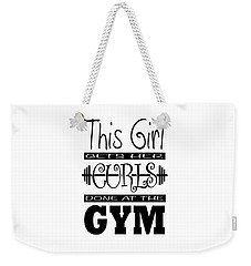 This Girl Gets Her Curls Done At The Gym Weekender Tote Bag