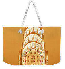 Chrysler Building At Sunset Weekender Tote Bag by Panoramic Images