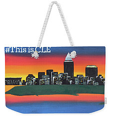 This Is Cle Weekender Tote Bag by Cyrionna The Cyerial Artist