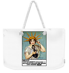 This Is Liberty Speaking - Ww1 Weekender Tote Bag by War Is Hell Store