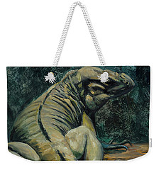 Weekender Tote Bag featuring the painting This Is My Good Side by Billie Colson