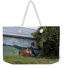 Weekender Tote Bag featuring the photograph This Old Barn 3 by Ella Kaye Dickey