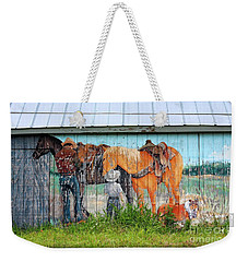 Weekender Tote Bag featuring the photograph This Old Barn by Ella Kaye Dickey