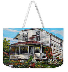 Weekender Tote Bag featuring the painting This Old House 2 by Marilyn  McNish
