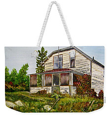 Weekender Tote Bag featuring the painting This Old House by Marilyn  McNish