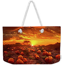 This Our Town Of Halloween Weekender Tote Bag by Phil Koch