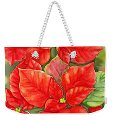 This Year's Poinsettia 1 Weekender Tote Bag by Inese Poga