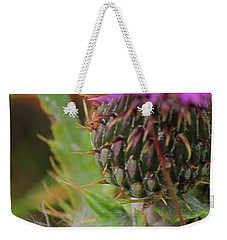 Weekender Tote Bag featuring the photograph Thistle  by Ann E Robson