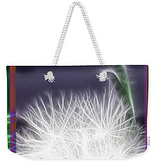 Weekender Tote Bag featuring the photograph Thistle by EricaMaxine  Price