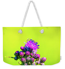 Weekender Tote Bag featuring the photograph Thistle June 2016.  by Leif Sohlman