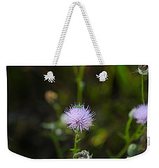 Thistles Morning Dew Weekender Tote Bag by Christopher L Thomley