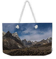 Weekender Tote Bag featuring the photograph Thokla Pass Nepal by Mike Reid