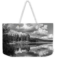 Thompson Lake In Black And White Weekender Tote Bag