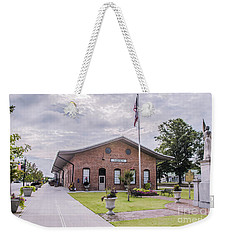 Weekender Tote Bag featuring the photograph Thomson Georgia #smalltown by Andrea Anderegg