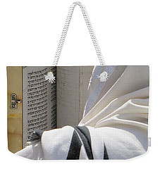 Thora Reading At The Western Wall Weekender Tote Bag by Yoel Koskas