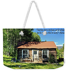 Thoreau--three Chairs Weekender Tote Bag