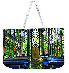 Weekender Tote Bag featuring the photograph Thorncrown Chapel Serenity by Cricket Hackmann