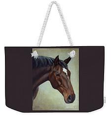 Thoroughbred Horse, Brown Bay Head Portrait Weekender Tote Bag