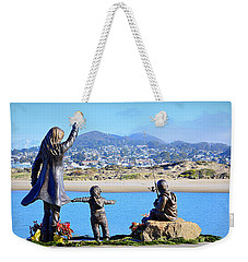 Weekender Tote Bag featuring the photograph Those Who Wait by AJ Schibig