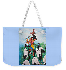 Blaa Kattproduksjoner         Thoth - What's With The Sombrero Weekender Tote Bag