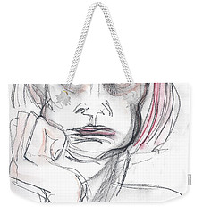 Thoughtful - A Selfie Weekender Tote Bag