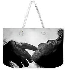 Thoughtful Chimpanzee Weekender Tote Bag