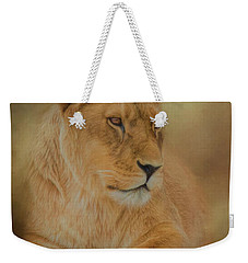 Thoughtful Lioness - Square Weekender Tote Bag