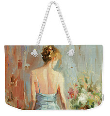 Weekender Tote Bag featuring the painting Thoughtful by Steve Henderson