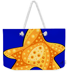 Weekender Tote Bag featuring the painting Thoughts And Colors Series Starfish by Veronica Minozzi