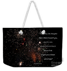 Weekender Tote Bag featuring the photograph Thoughts Of Peace by Debby Pueschel