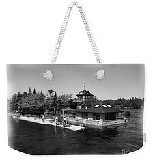 Weekender Tote Bag featuring the photograph Thousand Islands In Black And White by Rose Santuci-Sofranko