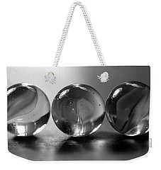Three Amigos 2 Bw Weekender Tote Bag by Mary Bedy