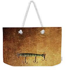 Three Antique Fishing Lure Weekender Tote Bag by Stephanie Frey