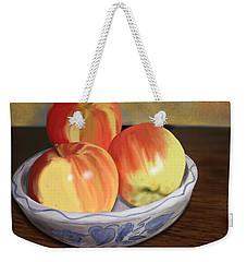Three Apples Weekender Tote Bag