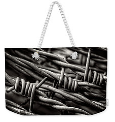 Three Barbs In Black And White Weekender Tote Bag by Greg Mimbs