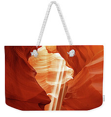 Weekender Tote Bag featuring the photograph Three Beams by Norman Hall