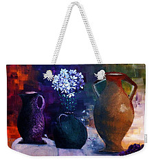 Weekender Tote Bag featuring the painting Three Best Friends by Lisa Kaiser
