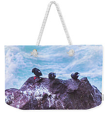Weekender Tote Bag featuring the photograph Three Birds by Jonny D
