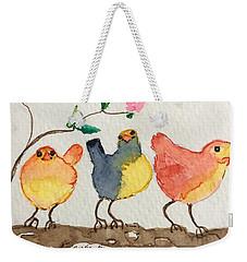 Three Birds  Weekender Tote Bag