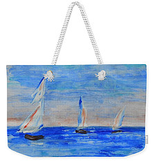 Three Boats Weekender Tote Bag by Jamie Frier
