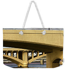 Weekender Tote Bag featuring the photograph Three Bridges by Phyllis Denton